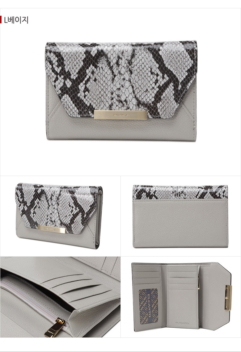 [ ELCANTO ] 埃尔坎托妇女皮革钱包LCZ必须穿过N 04
